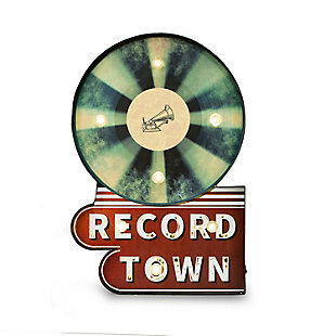 "Bey-Berk ""Record Town"" LED Lighted Sign, , large"