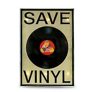 "Bey-Berk ""Save Vinyl"" LED Sign, , large"