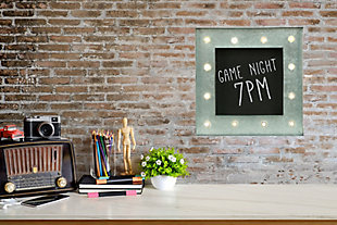 Bey-Berk Chalkboard Sign with LED Lights, , rollover