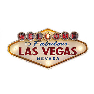 "Bey-Berk ""Welcome to Las Vegas"" LED Sign, , large"