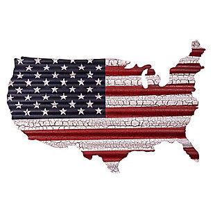 """Bey-Berk """"USA Map"""" Distressed Metal Sign, , large"""