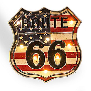 "Bey-Berk ""Route 66"" LED Sign, , large"