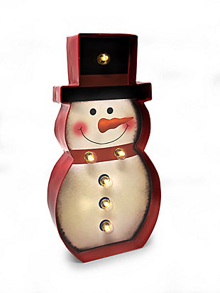 Bey-Berk Snowman LED Sign, , large