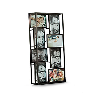 "Bey-Berk Black Metal 4""x6"" Photo Collage Frame, 8 Photos, , large"