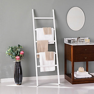 Danna Freestanding Wooden Leaning Ladder Rack, , rollover