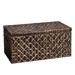 Carley Hyacinth Storage Trunk - Blackwashed, , large