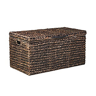 Eira Water Hyacinth Coffee Storage Trunk Table, , large
