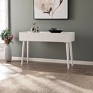 Yaminah Bright White Console Table, , rollover