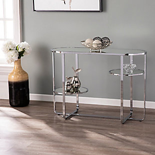Tobye Mirrored Console Table with Storage, , rollover