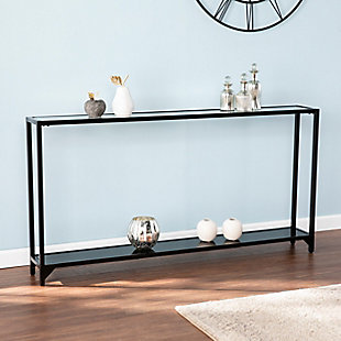 Tersey Narrow Metal Console Table - Black, , rollover
