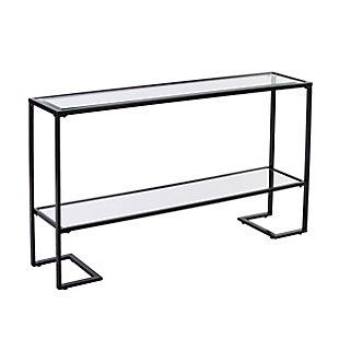 Namonra Glam Narrow Console Table - Black, , large