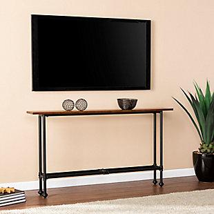 Russ Console Table - Black with Espresso, , rollover