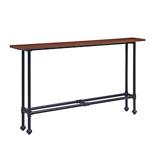 Russ Console Table - Black with Espresso, , large