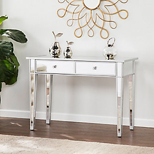Bellah Mirrored 2-Drawer Console Table, , rollover