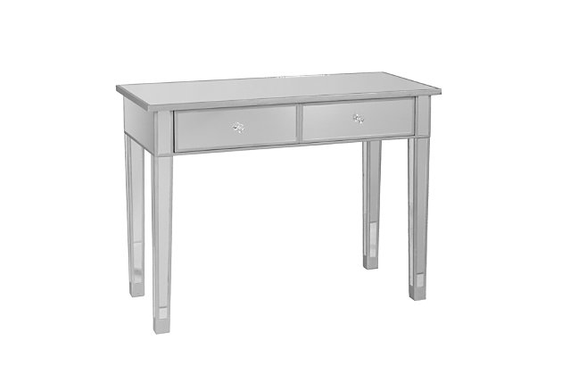 Bellah Mirrored 2-Drawer Console Table, , large