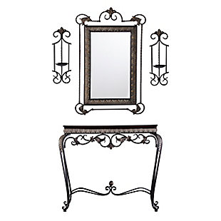 Stanton Console/Mirror/Sconce Pair (Set of 4), , large