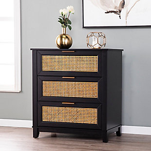 Chekshire Black 3-Drawer Storage Chest, , rollover