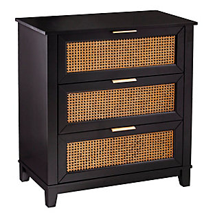 Chekshire Black 3-Drawer Storage Chest, , large
