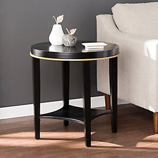 Namina Round Accent Table with Shelf, , rollover