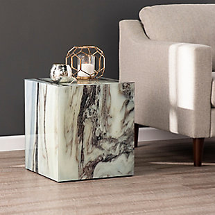 Outrand Faux Marble Accent Table, , rollover