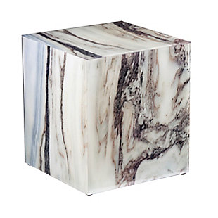 Outrand Faux Marble Accent Table, , large