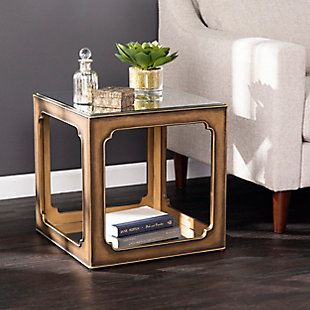Ranning Mirrored Square Accent Table, , rollover
