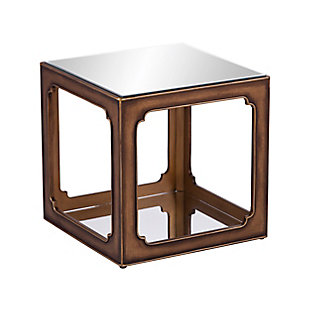 Ranning Mirrored Square Accent Table, , large