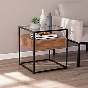 Torden Glass-Top End Table with Storage, , rollover