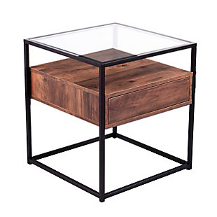 Torden Glass-Top End Table with Storage, , large