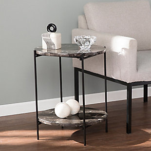 Leona Round Marble Side Table, , rollover