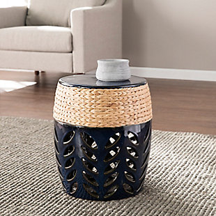 Borter Round Ceramic Accent Table, , rollover