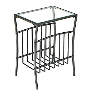 Mayam Contemporary Metal Magazine Table, , large