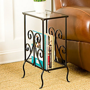 Nilam Decorative Metal Magazine Table, , rollover
