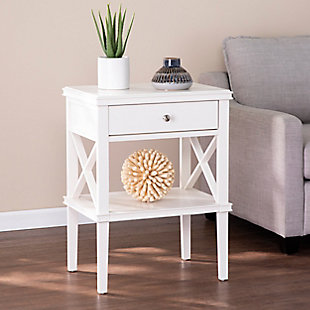 Camm Tall Accent Table - White, , rollover