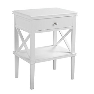 Camm Tall Accent Table - White, , large