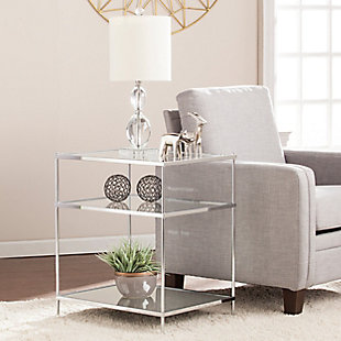 Hampta Glam Mirrored Side Table - Chrome, , rollover