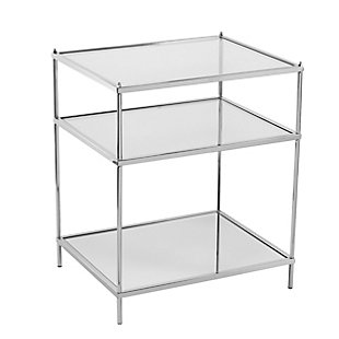 Hampta Glam Mirrored Side Table - Chrome, , large