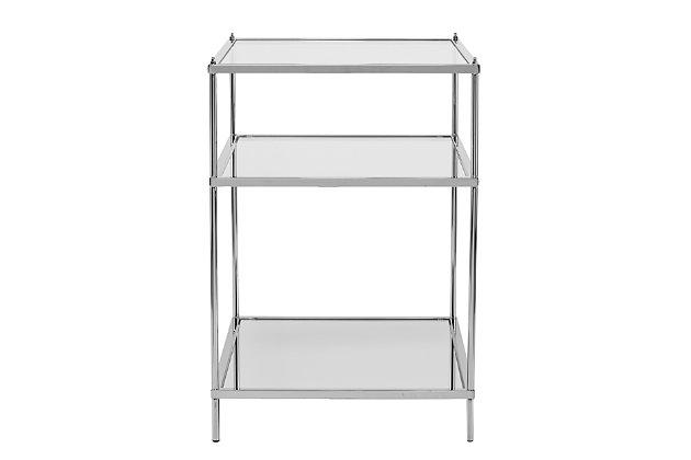 Hampta Glam Mirrored Side Table - Chrome, , large