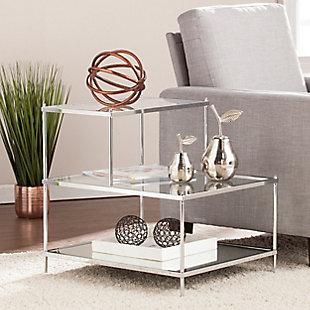 Hampta Glam Mirrored Accent Table - Chrome, , rollover