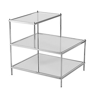 Hampta Glam Mirrored Accent Table - Chrome, , large