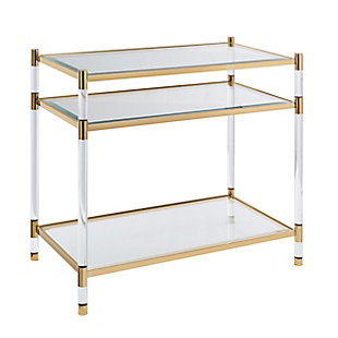Starra Acrylic Accent Table, , large