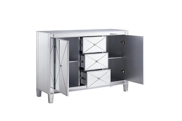 Bellah 3-Drawer Mirrored Cabinet, , large