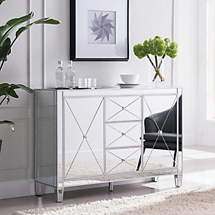 Bellah 3-Drawer Mirrored Cabinet, , rollover