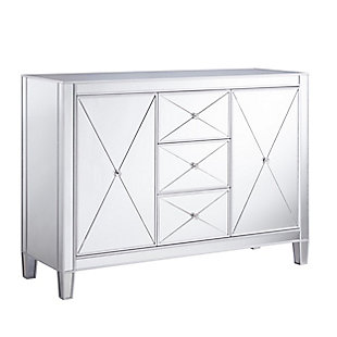 Bellah 3-Drawer Mirrored Cabinet, , large