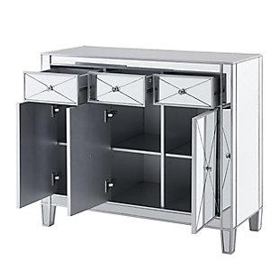 Bellah 3-Door Mirrored Cabinet, , large