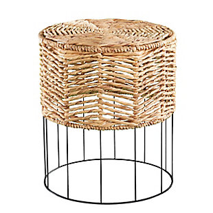 Corto Water Hyacinth Accent Table, , large
