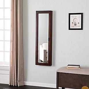 Layne Mount Jewelry Mirror - Brown Walnut, , rollover