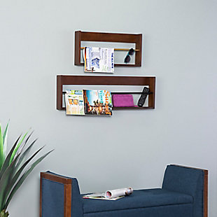 Achaz Wall Shelves (Set of 2), , rollover