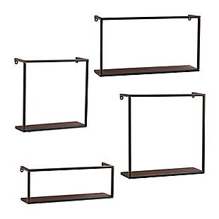 Zyther Metal Wall Shelves (Set of 4), , large