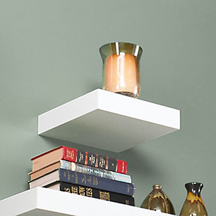 "Parma Floating Shelf 10"" - White, , rollover"